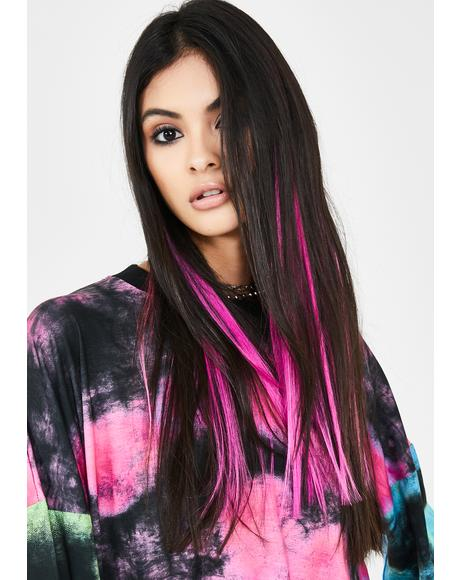 Mixed Pink Hair Extensions