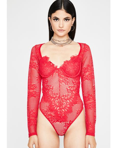 Hottie Keep It Kinky Lace Bodysuit