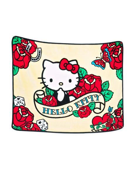 Rose Hello Kitty Soft Throw Blanket