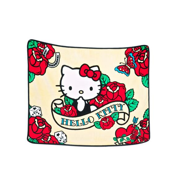 Sanrio Rose Hello Kitty Soft Throw Blanket