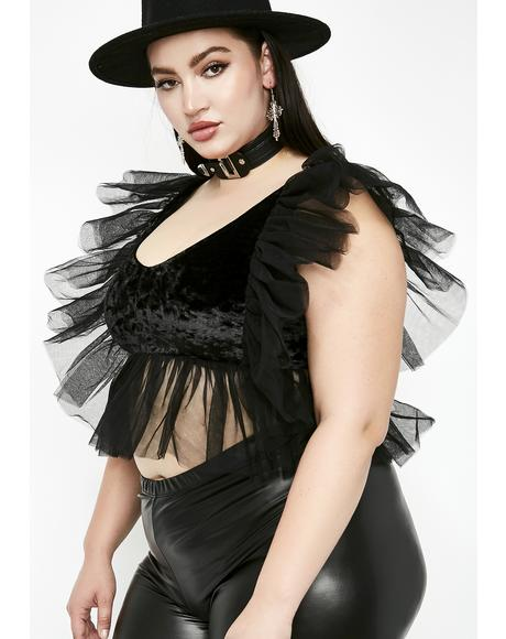 Fierce Sinners N' Saints Ruffle Top