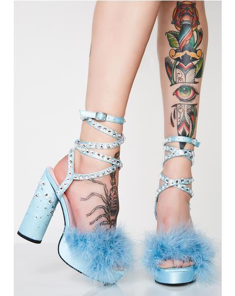 9863fce960e2 Boudoir Baby Fluffy Heels ...