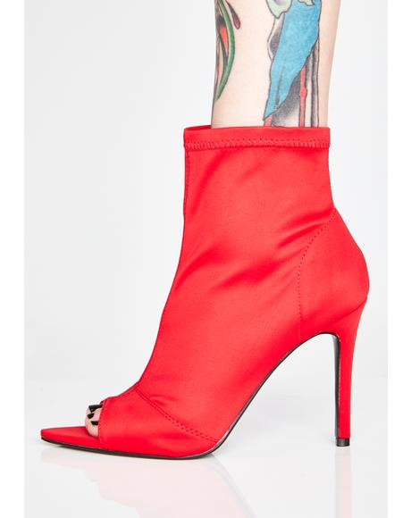 Fire Mobbin Peep Toe Booties