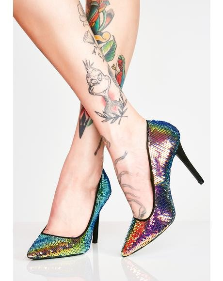 Blowin Up Sequin Pumps
