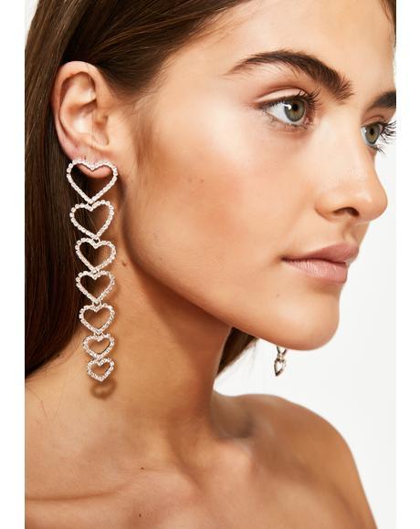 Heart To Heart Drop Earrings