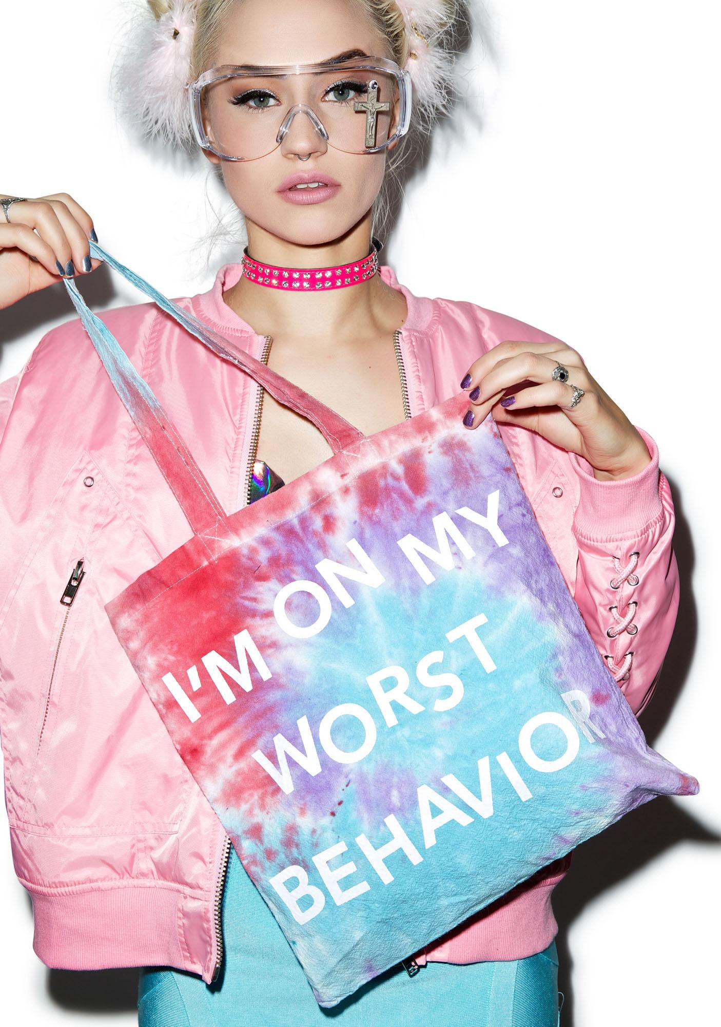Jac Vanek Worst Behavior Tote Bag