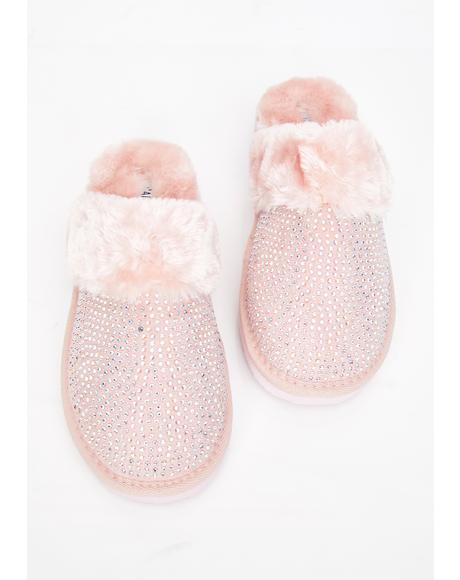 Princess Poppin' Rhinestone Slippers