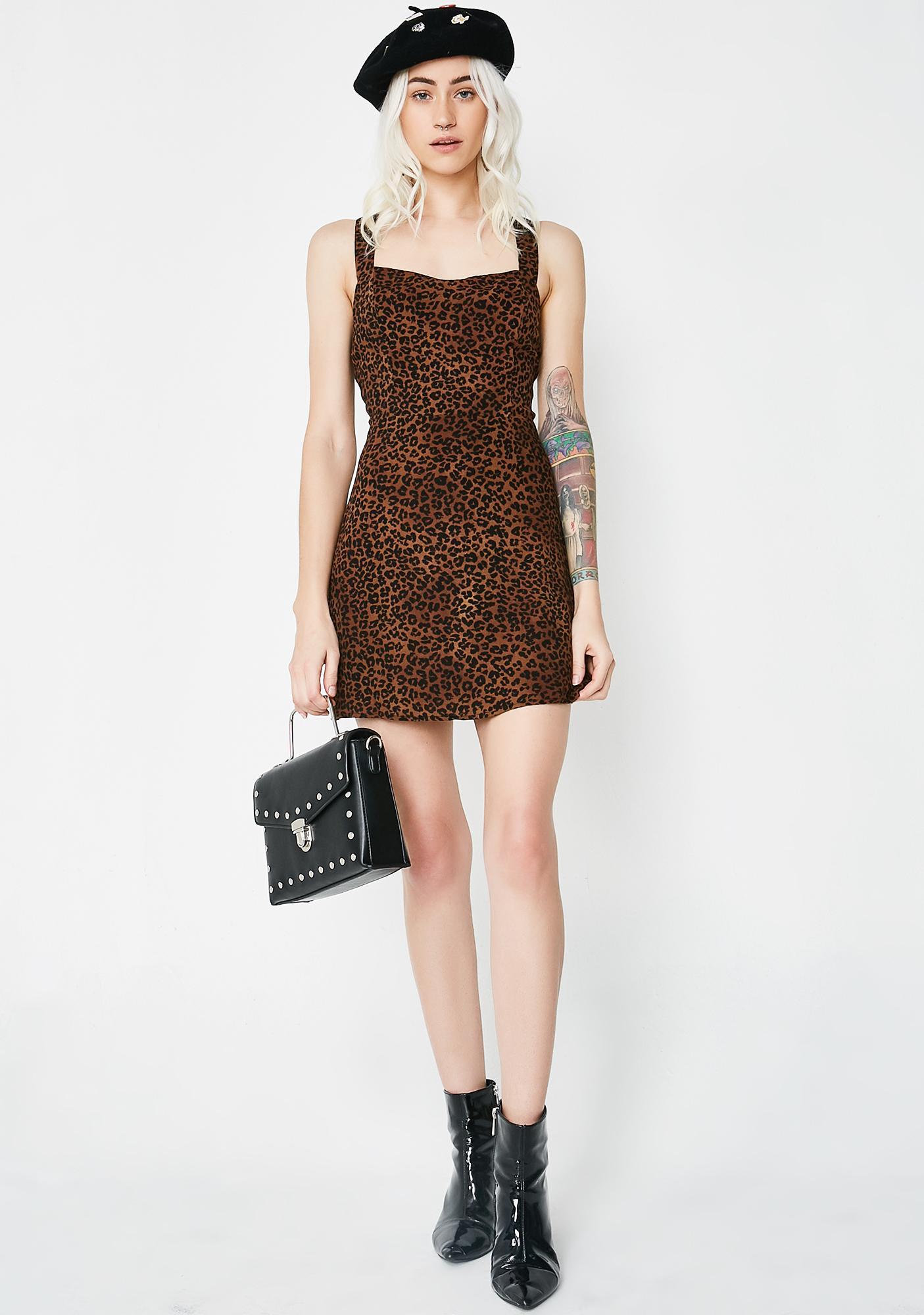 Flirt With Danger Leopard Dress