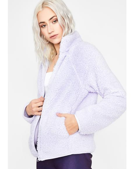 Lavender Just For Fun Sherpa Jacket