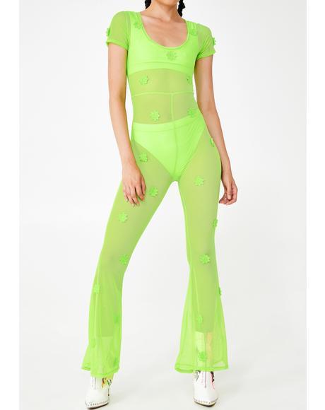 Daisy Neon Mesh Jumpsuit