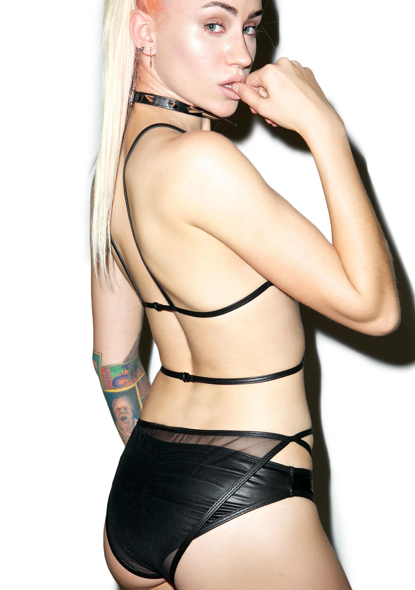 Deep Desire Caged Bodysuit Set