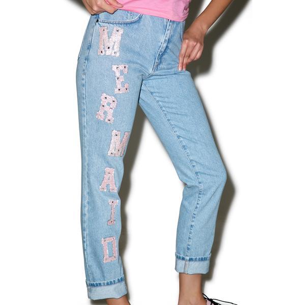 The Ragged Priest Mermaid Mom Jeans