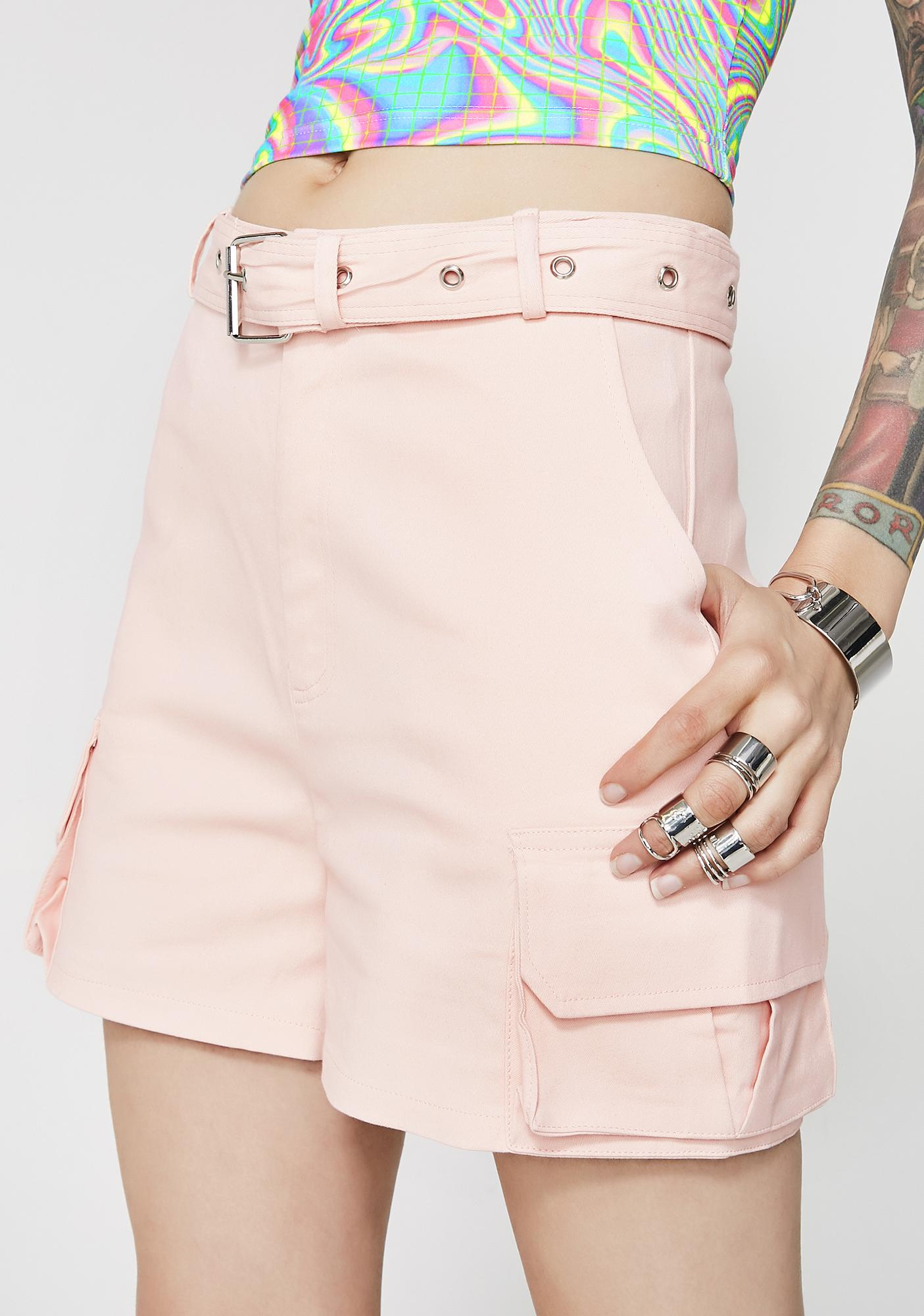Up A Notch Belted Shorts