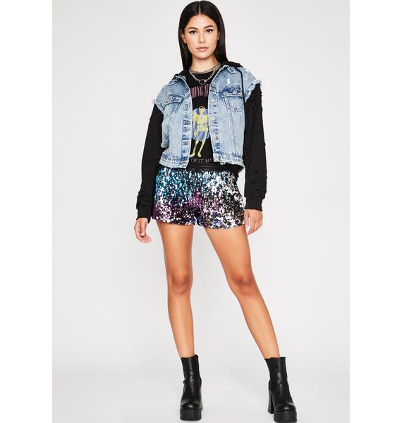 Magic All That Glitters Sequin Shorts