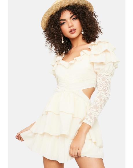Rad Romance Lace Ruffle Mini Dress