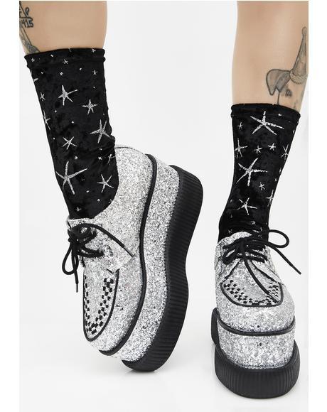 Twinkles Velvet Socks
