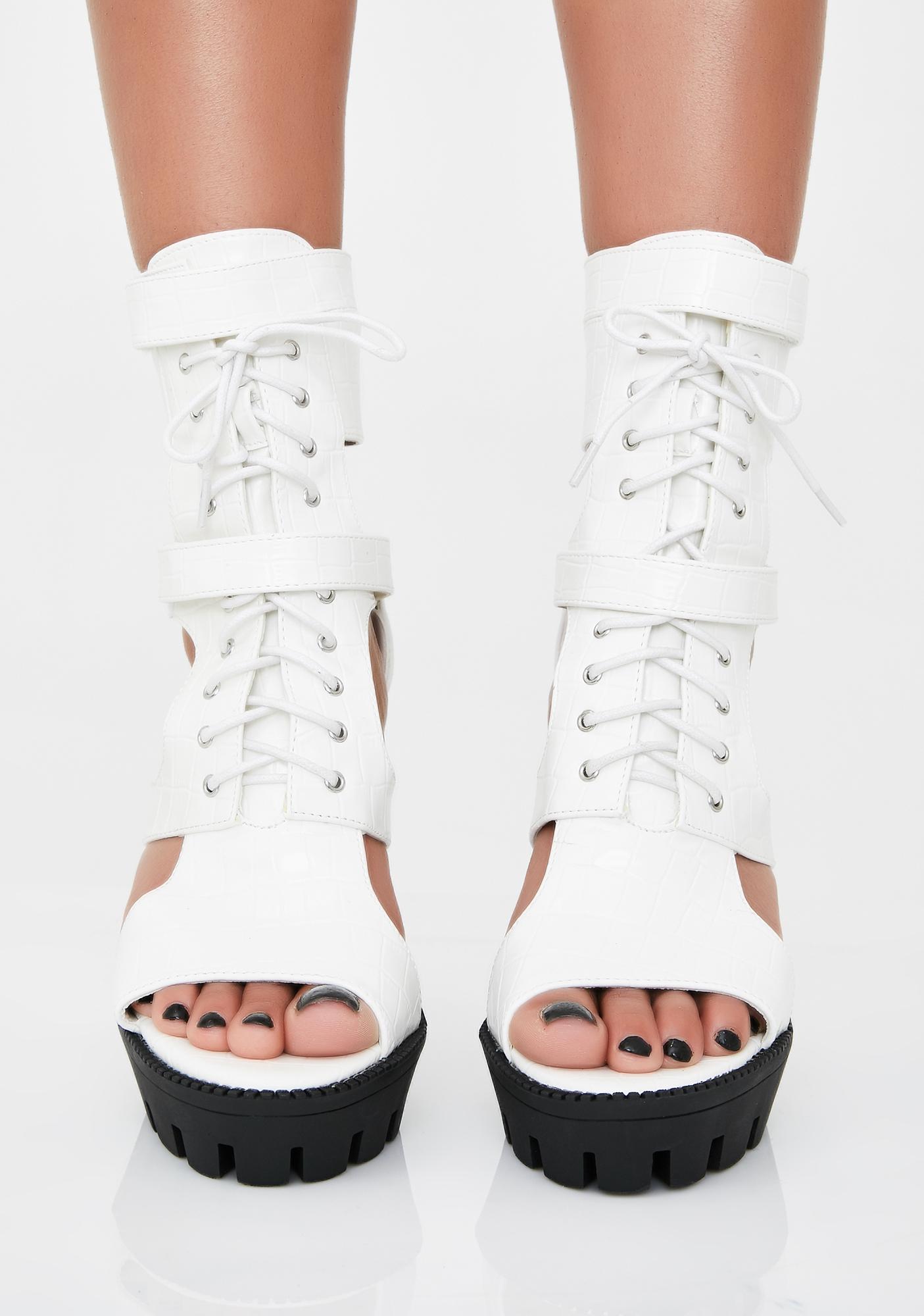 Quartz Hunty Status Lace Up Heels