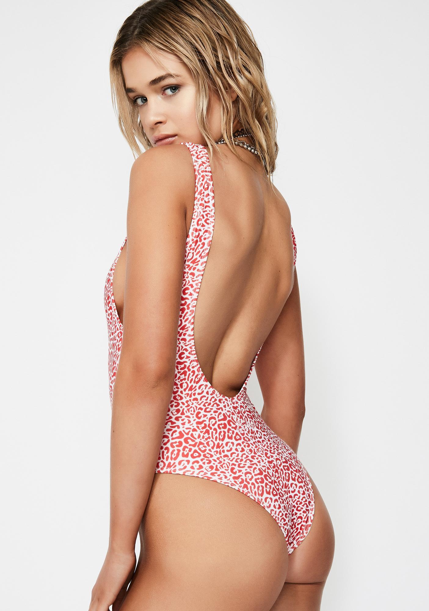 The People VS Leopard Red Juju One Piece Swimsuit