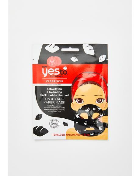 Yin N' Yang Charcoal Paper Mask