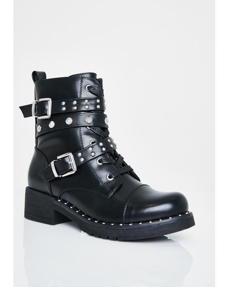 Total Stud Combat Boots