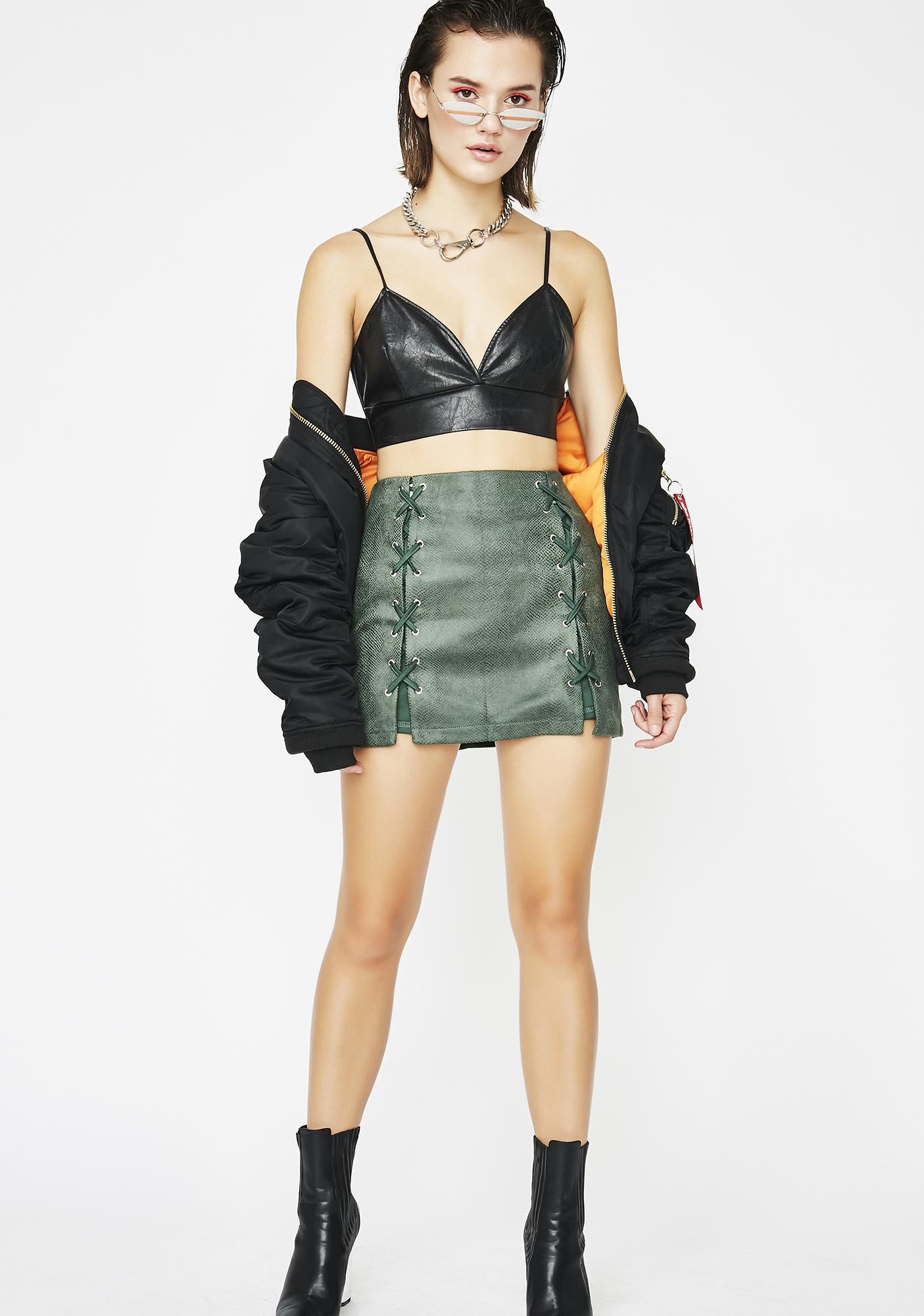 Snake Pit Mini Skirt