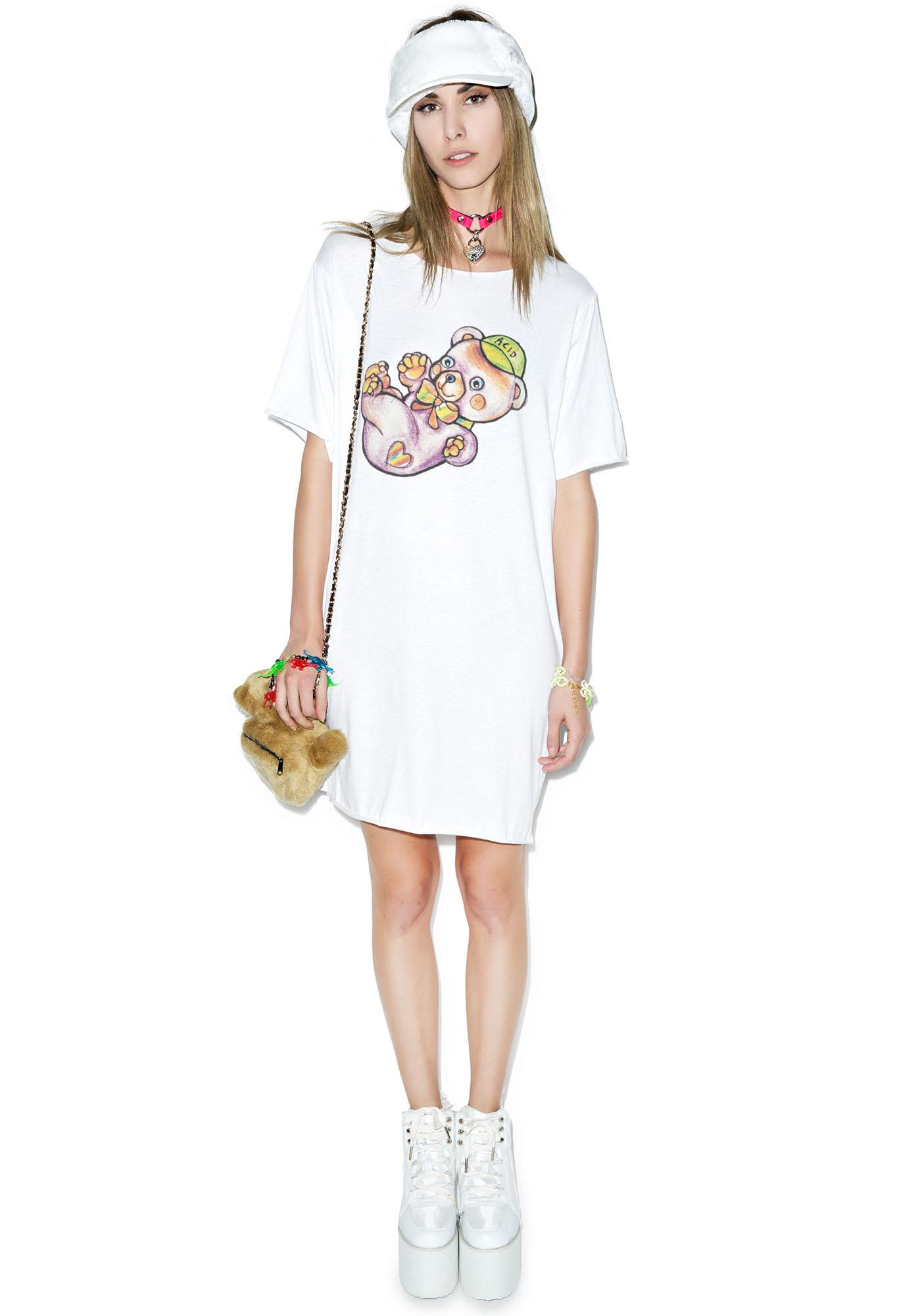 Y.R.U. Trippy Bear Tee Dress