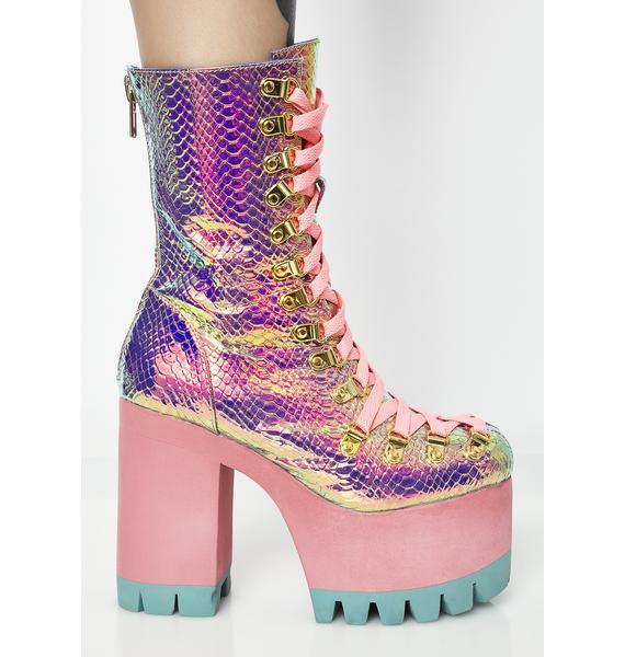 Club Exx Poisonous Vixen Snake Platform Boots
