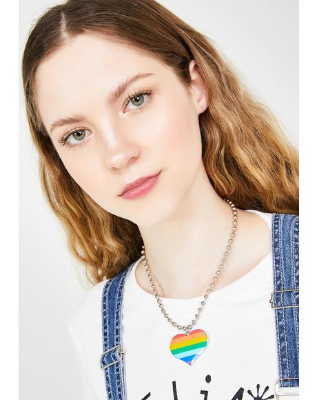 Pride N' Joy Heart Necklace
