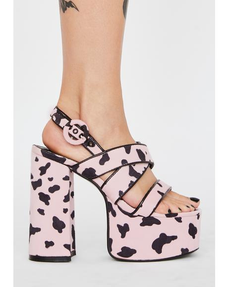 Sugar Udderly Chic Chunky Heels