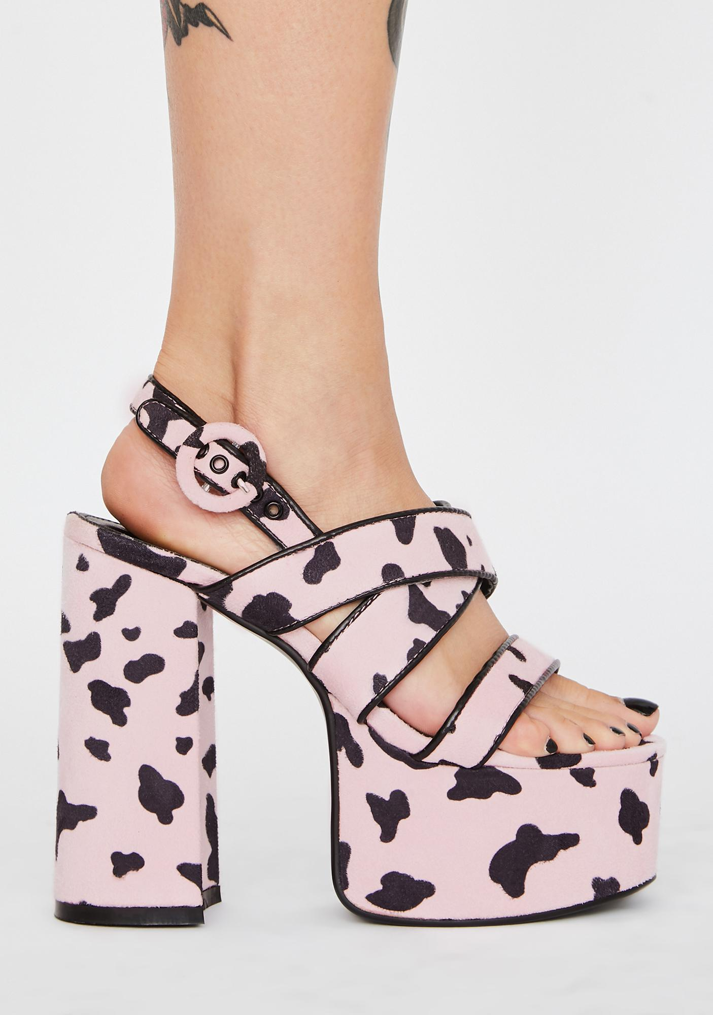 Lamoda Sugar Udderly Chic Chunky Heels