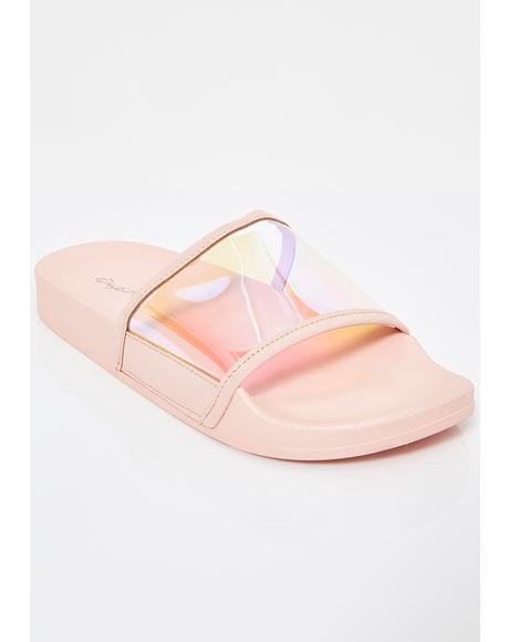 Lavish Life Iridescent Slides