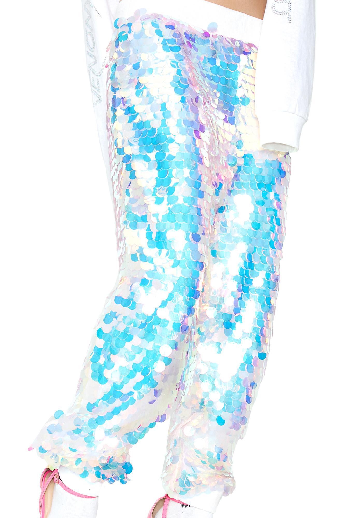 Mermaid Speed Of Light Sequin Joggers
