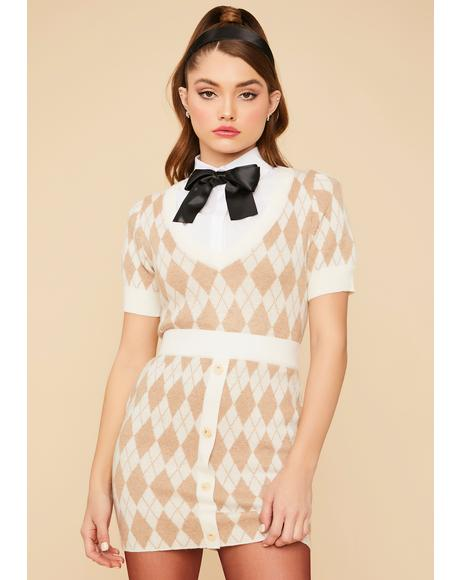 Charm School Argyle Skirt Set