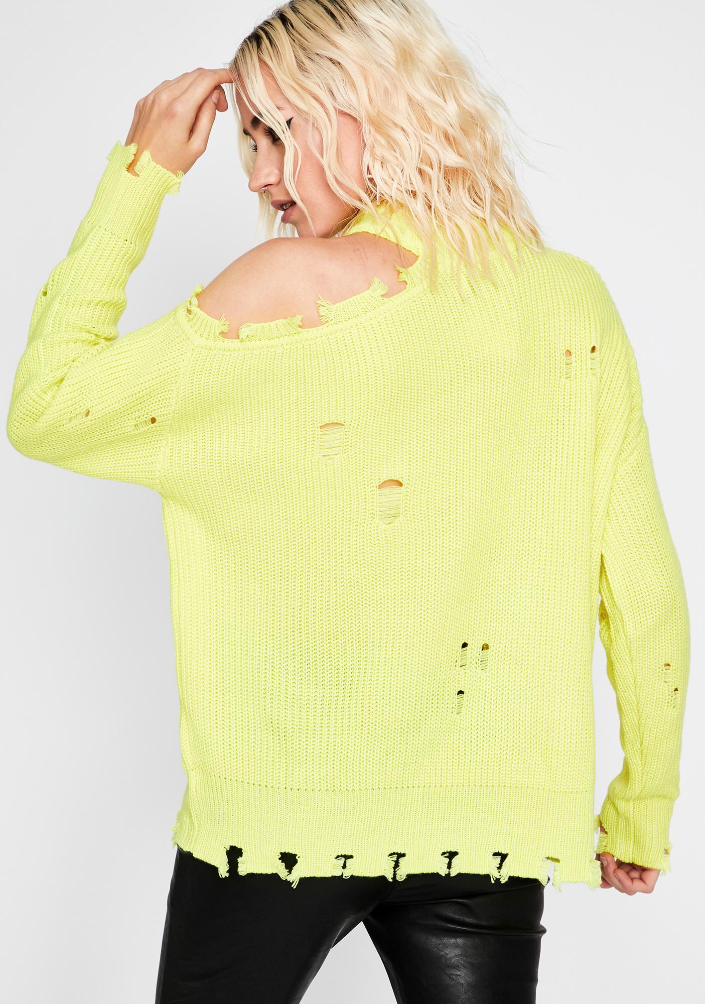 Worn To Be Wild Distressed Sweater
