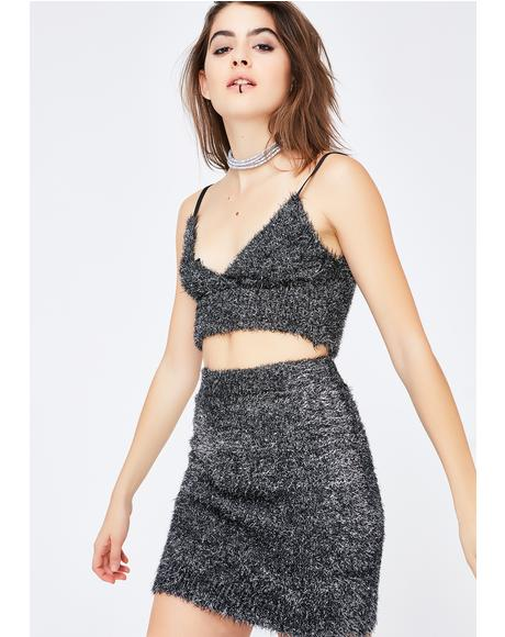 Feel You Up Fuzzy Skirt