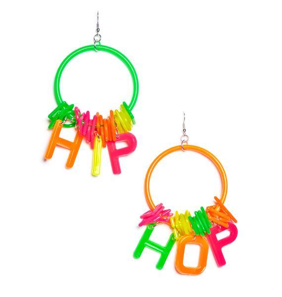 Trixy Starr Hip Hop Hoop Earrings
