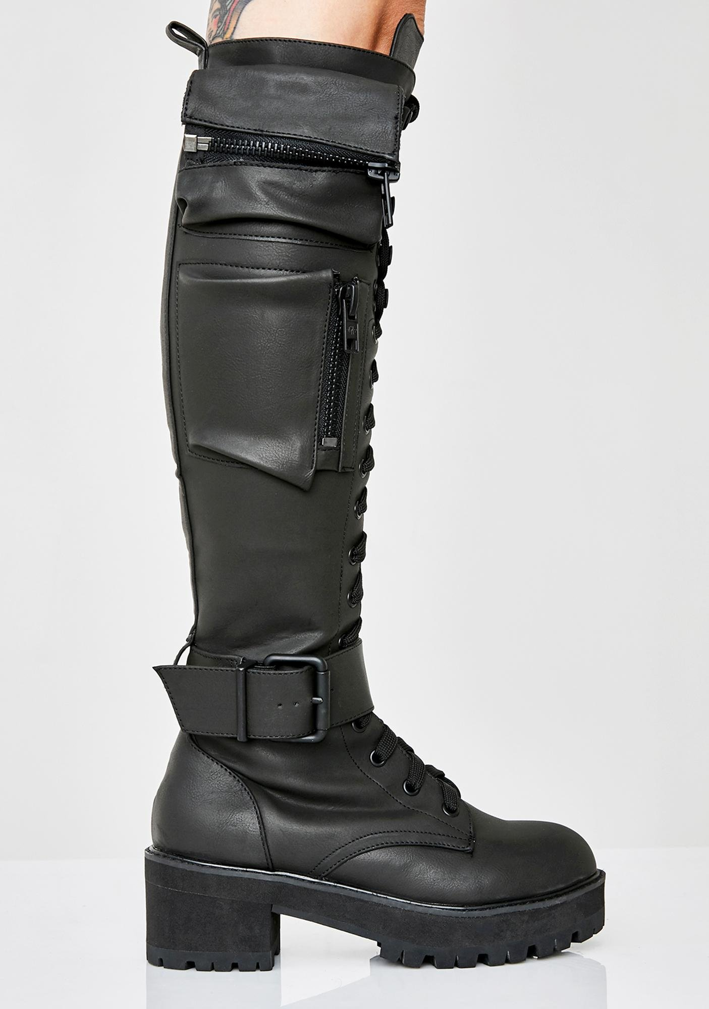 great fit finest selection promo codes Obsidian Pocket Combat Boots