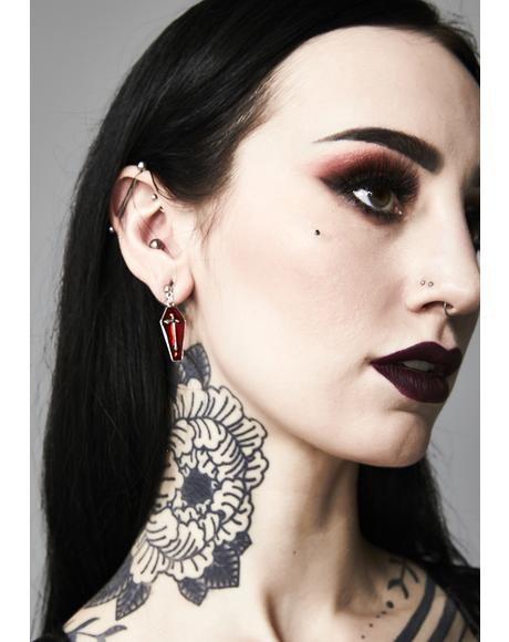 Beyond The Grave Coffin Earrings