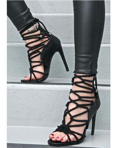 Ibiza Lace-Up Heels