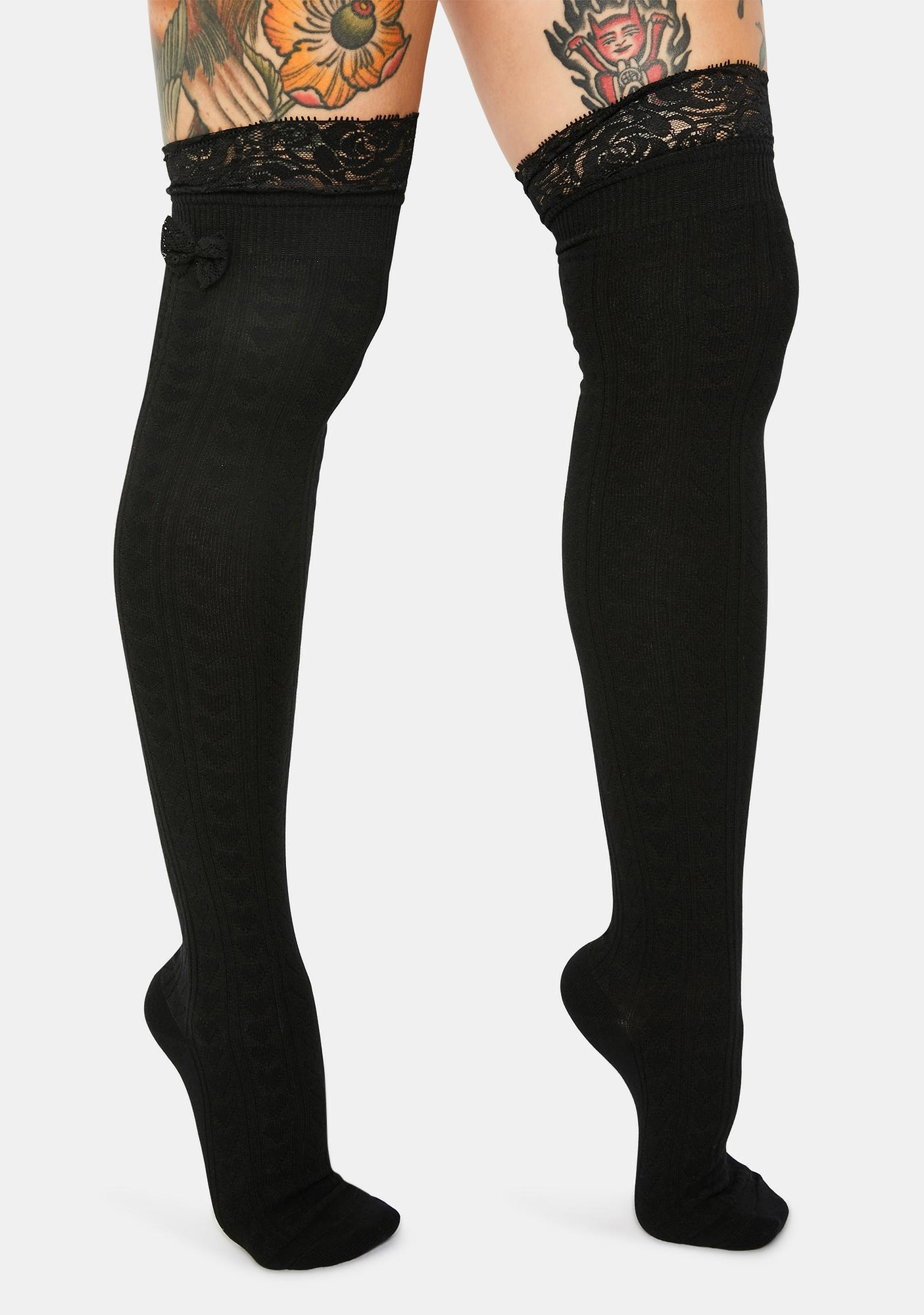 Online Lover Thigh High Tights