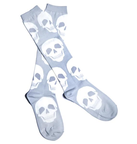 Loungefly Skull Knee Socks