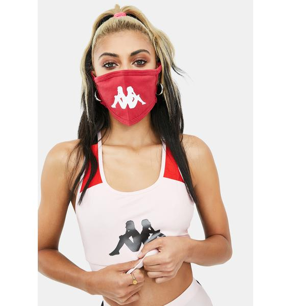 Kappa Red Authentic Wilk Face Mask