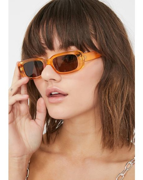 Cognac Whatever 4ever Small Sunglasses