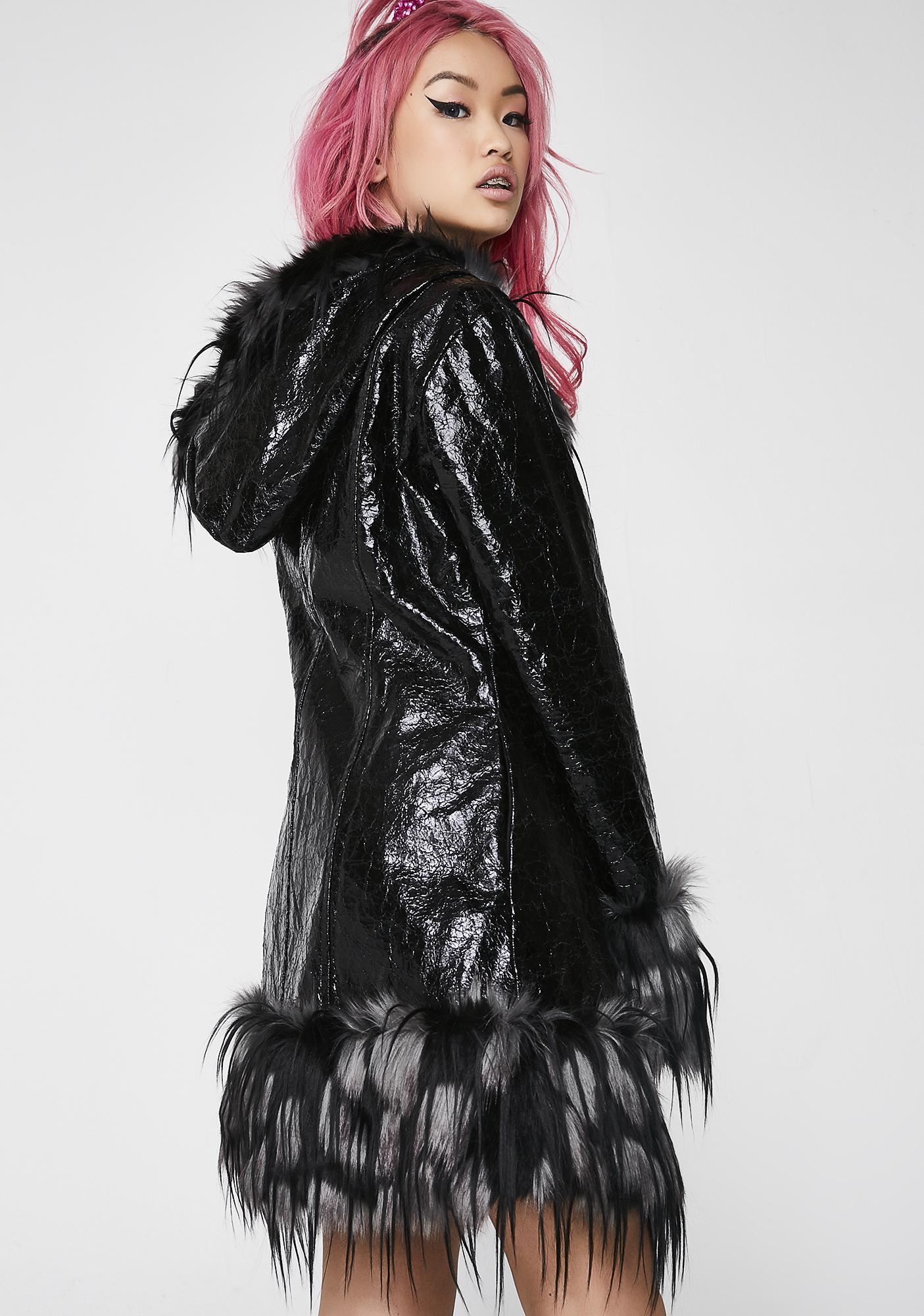 Club Exx Opulent Asylum Faux Fur Jacket
