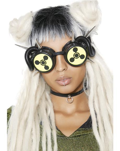 Biohazard Spiked Goggles