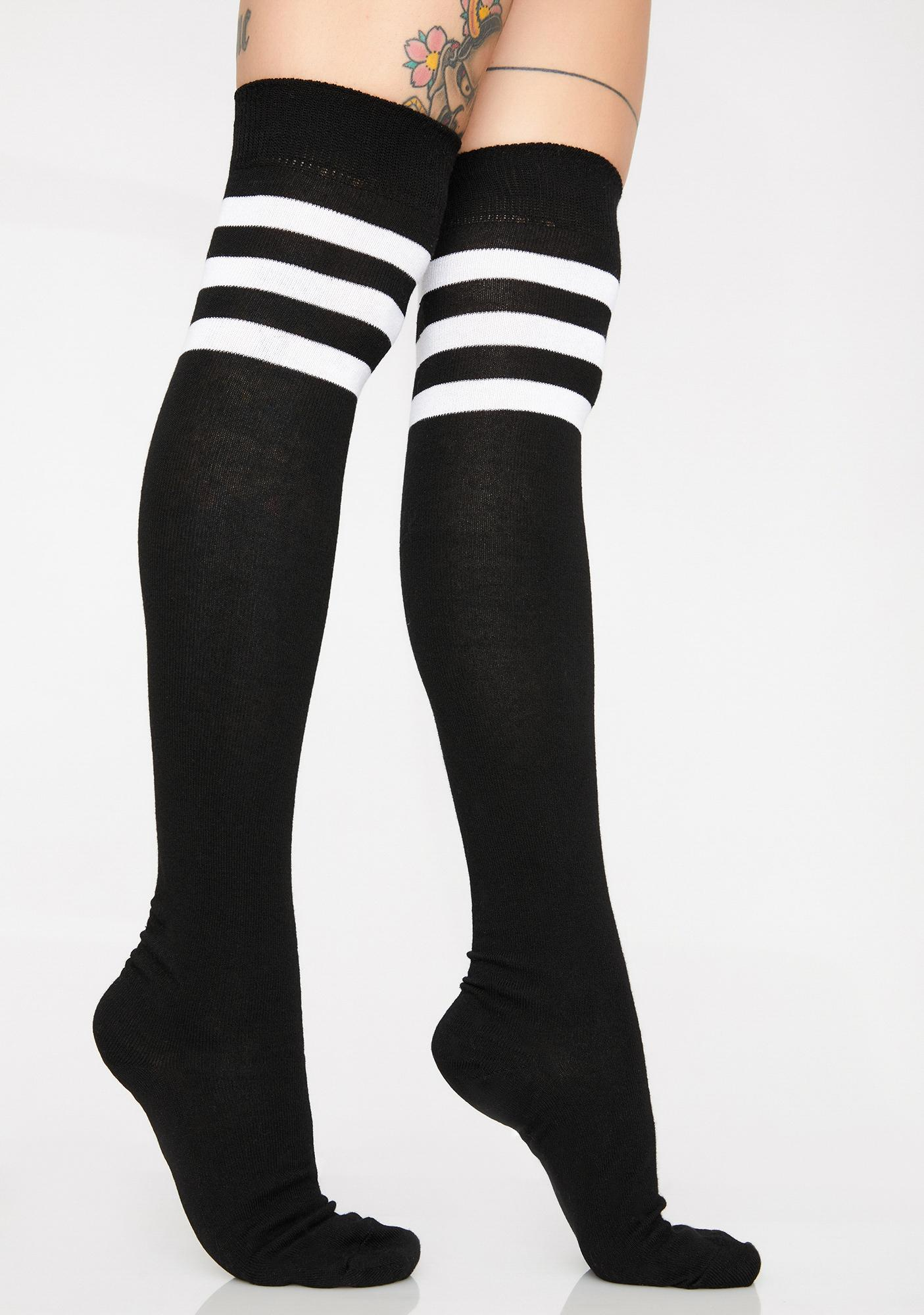 5524552ca Three Stripe Over The Knee Socks