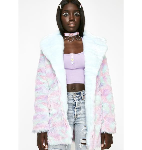 Sugar Thrillz BonBon Delight Faux Fur Coat