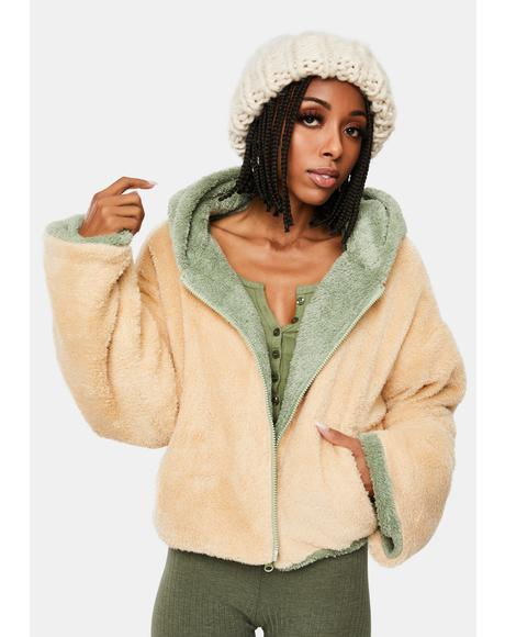 Snuggle Closer Reversible Sherpa Jacket