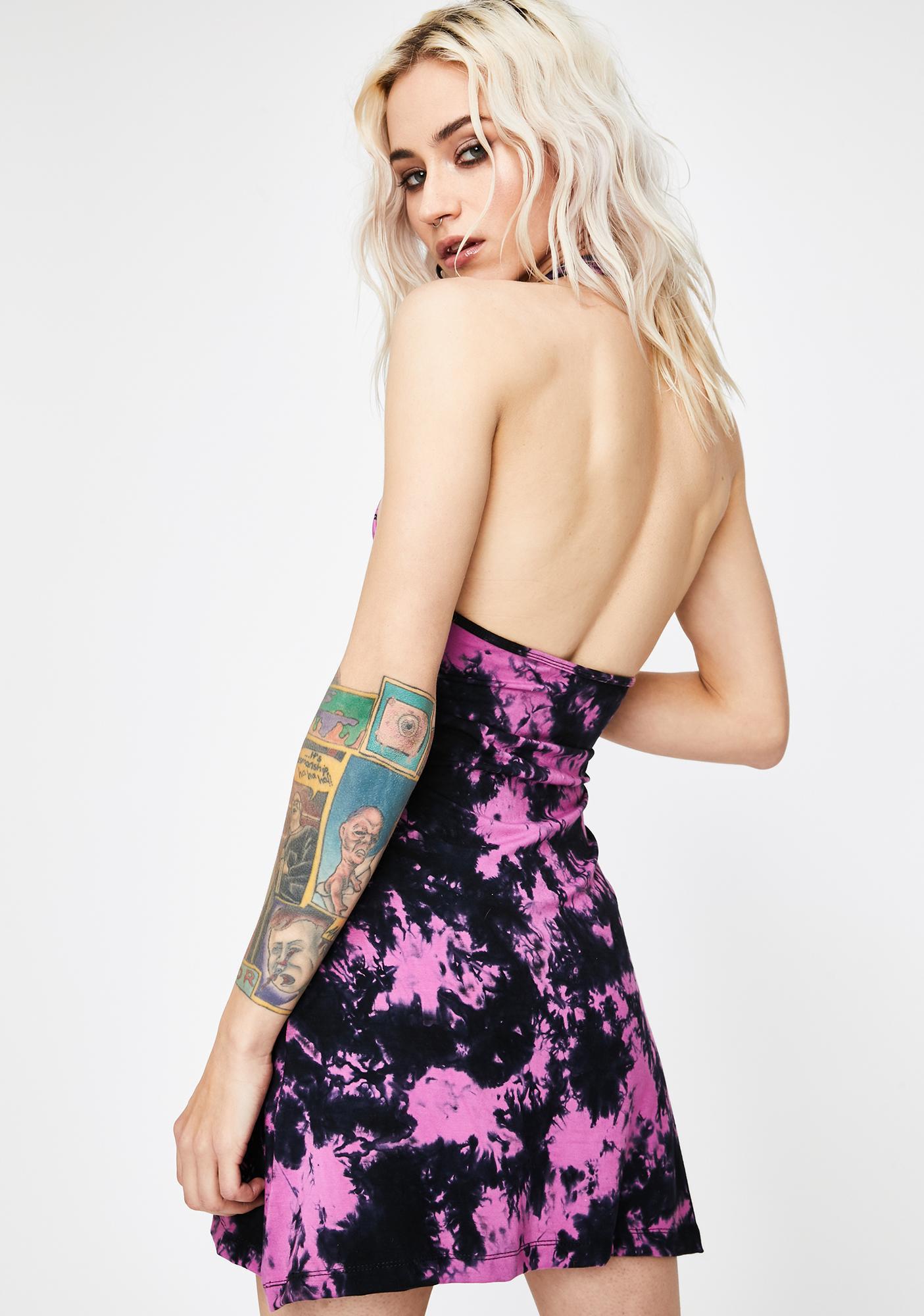 GADO GADO VIENNA Tie Dye Halter Dress