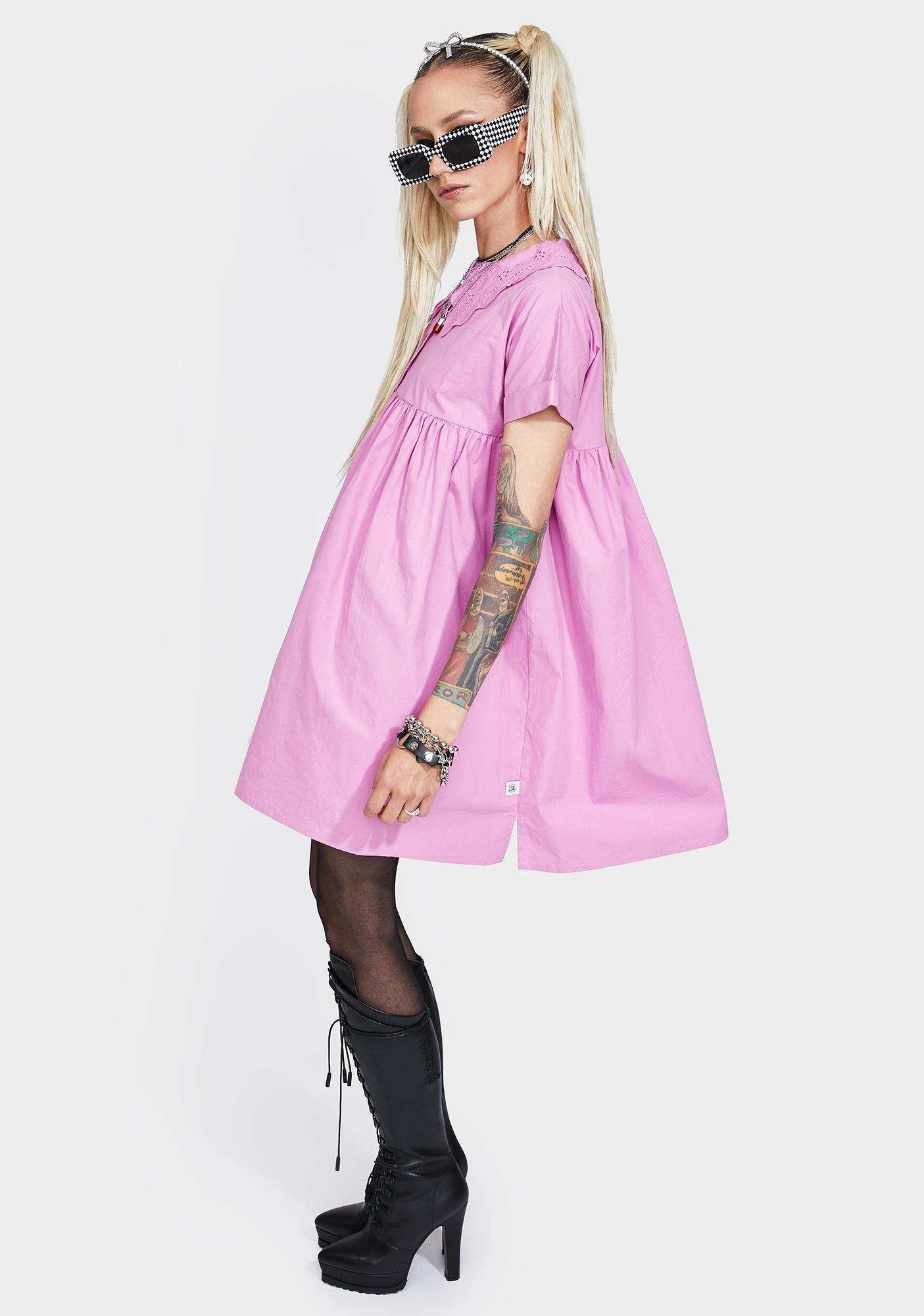 Little Sunny Bite Pink Girly Short Dress
